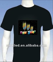 Young men EL t-shirt for new year