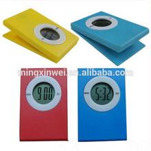 Mini Digital Clip Clock With Big Logo Printing