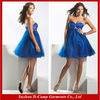 OD-383 Strapless empire waist ruffled tulle skirt sexy royal blue plus size cocktail dress for fat lady smart cocktail dress