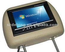 Factory Price--7'' Headrest TFT LCD CAR Monitor WITH TOUCH SCREEN,VGA/AV/PILLOW
