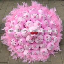 Grandes brinquedos de pelúcia buquês de flores para presente de aniversário