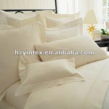 High Grade White 100% Cotton Fabric Hotel Bedding Set