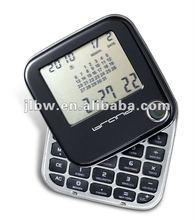 World Time Alarm Clock Calculator With Calendar Logo Printing