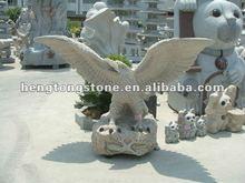 Hand Carved Sandstone Eagle Animal Statue