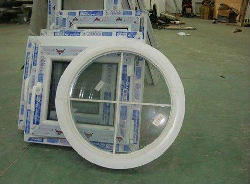 Upvc / PVC redonda janela de fábrica