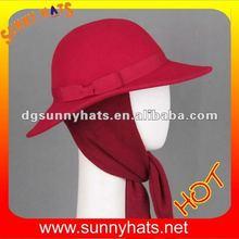 Newest style wool felt earflap Hat for 2014 winter ladies