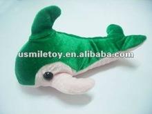 dolphins green plush toys
