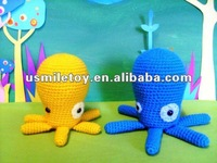 Mannual Knitted Doll squid stuffed toys
