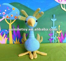 Mannual Knitting Doll sitting bird stuffed toys