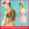 2013 Summer Sexy Sweetheart Stretch Satin with Feather Mini Cocktail Dress