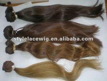 100% unprocessed european russian virgin remy human hair extension/bulk