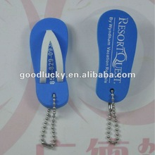 Cute shoes shaped EVA key chain for promotional gifts