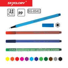 0.4 mm nib size hexangular fineliner pen
