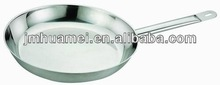 Stainless steel frying pan with induction bottom
