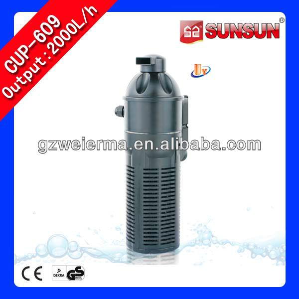 vertical del tanque de peces filtro uv de agua de la bomba de oxígeno de la función