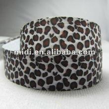 Leopard grain printed ribbon