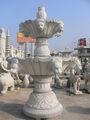 Jardim decoração granito cedido com cabeça de leão fonte de água, ao ar livre grande fonte cachoeira ( 23 anos de fábrica )