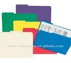 Colored Manila File Folder, 100/pack, 1/3 cut, A4, 100% recycled paper