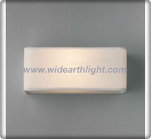 Rectangular Fabric Shade Wall Lamp/Light With Polished Steel Wall Fitting(W30044)