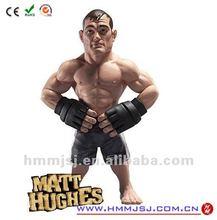 custom jointed 3D musclel man action figure plastic resin vinyl