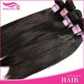 100% negro de buena calidad de tejido humano peruana de pelo del pelo recto