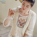 Hechos a mano de algodón bordado de encaje ropa para las para mujer