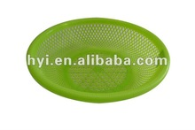 home storage organization green plastic eco-friendly round food vegetable plastic washing basket