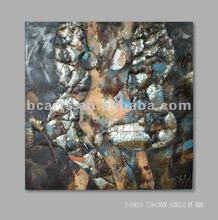 handmade abstract metallic body paintings sexy paintings modern geometric pattern iron painting