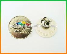 2012 new design round label pin