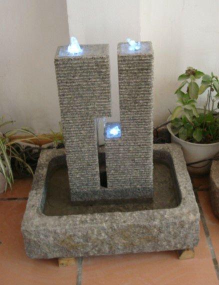 Piedra natural tallada a mano jard n decorativo fuente de for Fuentes decorativas de interior