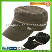 2012 new design cotton military style cap MC-1290
