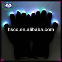 moonlight mitts multicolor black led gloves