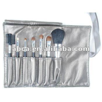 High quality 7pcs cosmetic brush set with silk ribbon