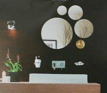 round acrylic mirror,1mm thick sticker home decor