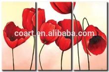 acrylic canvas wall decor group flower painting framed