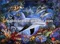 Image lenticulaire 3d dauphin. bhome décoration de la mer