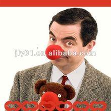 lovely red clown nose sponge toys