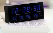 digital analog LED table clock with alarm