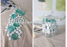 Shell shape glass stones with opal gems,vase filler