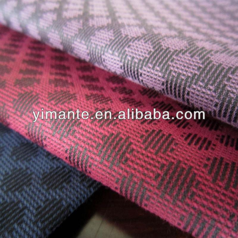 TC Poly cotton men's shirt fabric jacquard fabric in stock