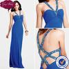 Goingwedding Bling Beaded Straps Formal Chiffon Lebanon Designer Evening Dresses ED083