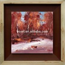 handmade knife autum landscape art oil painting for sales