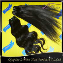 hot selling wholesale silky straight 100% brazilian human hair plastic bags for hair extensions