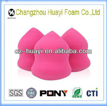 Latex free pink cosmetic sponge