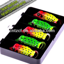 2012 Crazy Sales Plastic Fishing Lure frog-(float) 35mm 6g fishing lure