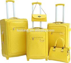 PU trolley travel luggage