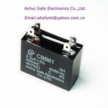 plastic cbb61 motor run capacitor resin filled