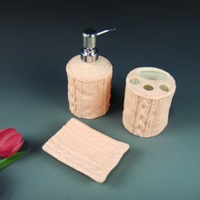 Porcelain bathroom sets and accessories for home and restaurant use
