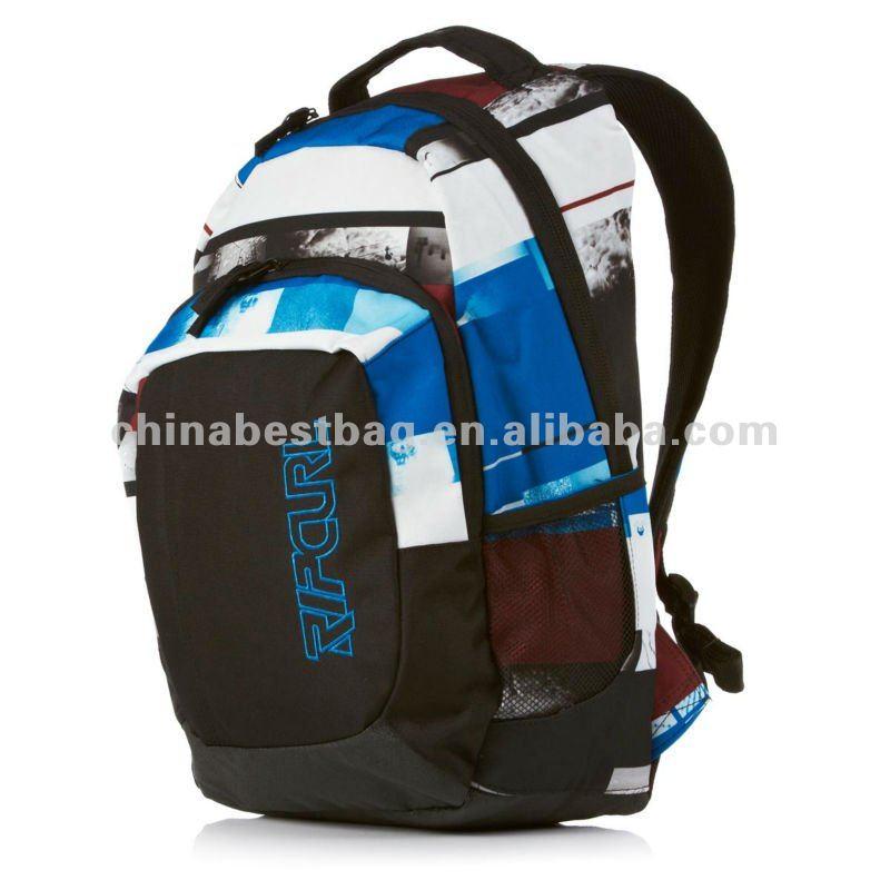 Fahionable Unipack Photo Stripes Laptop Backpack - Multicolour