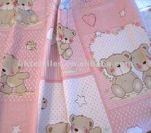 100% cotton printed fabric 40x40 133x72 57''/58''&children bedsheet
